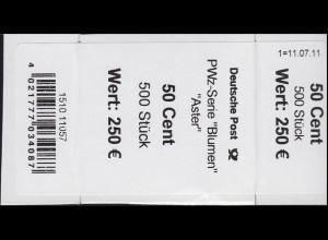 2463 Aster 50 Banderole / Aufkleber 500er-Rolle, Angabe Stück