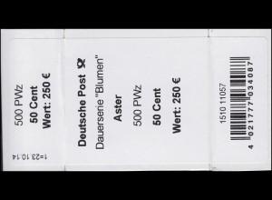 2463 Aster 50 Banderole / Aufkleber 500er-Rolle, Angabe PWz