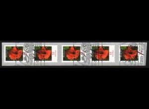 2477 Blume 0,55 sk, 5er-Streifen aus 500er ESSt Kiel