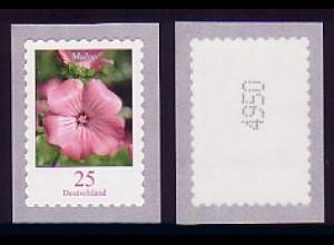 2513a Blume 25/dunkel, Marke mit Nummer aus 5000er-Rolle, **