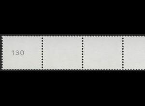 2964 Drei Cent 5er-Streifen GERADE Nr. Typ II kleine, schmale Ziffern, **