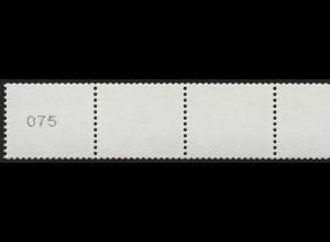 2964 Drei Cent 5er-Streifen UNGERADE Nr. Typ II kleine, schmale Ziffern, **