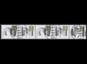 3042 Zwei Cent 5er-Streifen mit GERADER Nummer, ESSt Bonn
