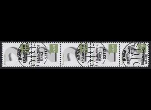 3042 Zwei Cent 5er-Streifen mit UNGERADER Nummer, ESSt Bonn