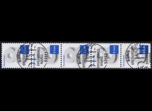 3188 Acht Cent 5er-Streifen mit UNGERADER Nummer, ESSt Bonn 3.12.15