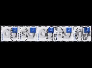 3188 Acht Cent 5er-Streifen mit GERADER Nummer, ESSt Berlin 3.12.15