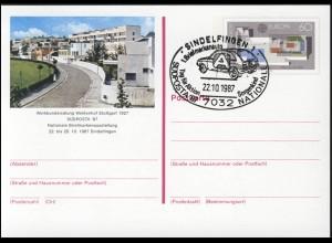 PSo 14 SÜDPOSTA Sindelfingen 1987, ESSt Aktion Sorgenkind 22.10.87