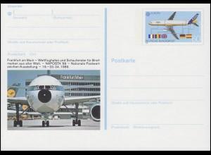 PSo 17 Briefmarkenausstellung NAPOSTA Frankfurt/Main 1989, **