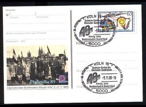 PSo 19 PHILATELIA Köln 1989, ESSt 40 Jahe BRD 3.11.89
