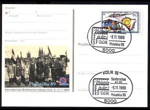 PSo 19 PHILATELIA Köln 1989, SSt Philatelie in der DDR