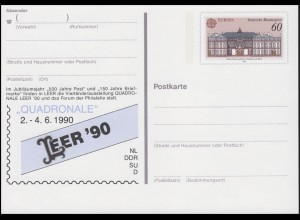PSo 21 Vierländerausstellung Quadronale LEER 1990, **