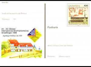 PSo 55 Sindelfingen & Augsburger Posthaus 1998, ** wie verausgabt