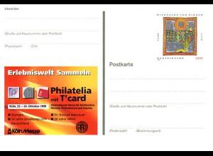 PSo 61 PHILATELIA Köln & Sachsendreier 1999, ** wie verausgabt