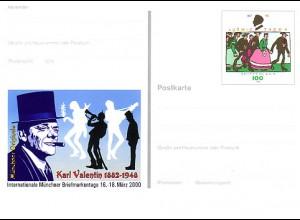 PSo 65 Messe MÜNCHEN & Karl Valentin 2000, postfrisch wie verausgabt **