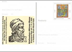 PSo 66 KOBLENZ & Johannes Gutenberg, postfrisch wie verausgabt **