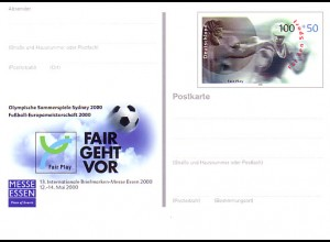 PSo 68 ESSEN 2000 & Fair Play Olympia & Fußball-EM, postfrisch wie verausgabt **