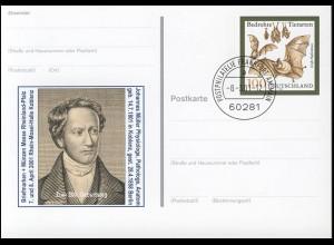 PSo 75 Koblenz / Physiologe Müller, gestempelt VS-O Frankfurt 08.03.2001