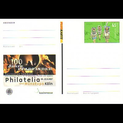 PSo 96 Philatelia Köln - 100 Jahre Pfadfinder 2007, **