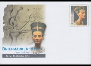 USo 306 Briefmarkenmesse Berlin und Nofretete 2013, EV-O Bonn 10.10.13