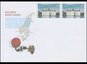 USo 313 200 Jahre Kieler Frieden - Siegel Schwedens 2014, **