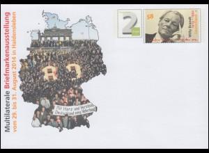 USo 334 Briefmarkenausstellung Haldensleben 2014, **