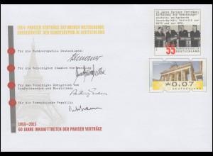 USo 359 50 Jahre Pariser Verträge 2015, **