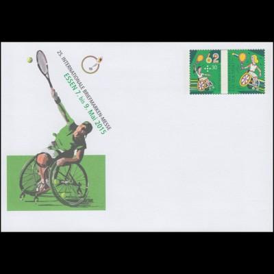 USo 360 Briefmarken-Messe Essen - Rollstuhltennis 2015, **