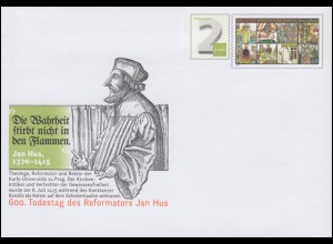 USo 365 500. Todestag des Reformators Jan Hus 2015, **
