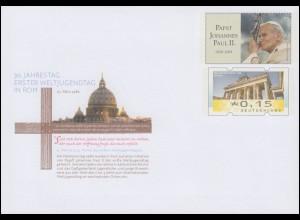 USo 393 30. Jahrestag Erster Weltjugendtag in Rom 1986-2016, **