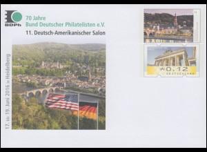 USo 404 70 Jahre Bund Deutscher Philatelisten BDPh 2016, **