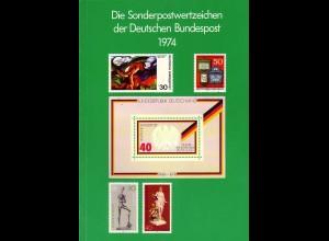 Jahrbuch Bund 1974, postfrisch komplett - wie von der Post verausgabt