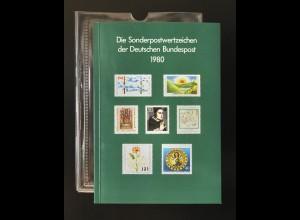 Jahrbuch Bund 1980, postfrisch ** wie verausgabt
