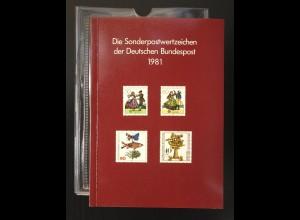 Jahrbuch Bund 1981, postfrisch ** wie verausgabt