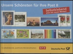 Die Schönsten Post II ... - 12 selbstklebende Marken zu 45, 58, 90, 145, 240 **