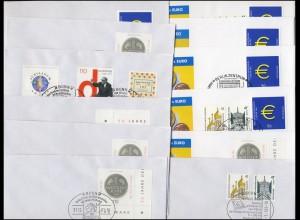 Euro-Einführung: 12 versch. Belege DM-EURO-Wechsel SST
