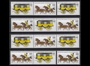 1255-1256 MOPHILA Hamburg 1985, 4 Zusammendrucke und 2 Einzelmarken, Set **