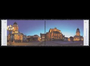 2983-2984 Panorama Gendarmenmarkt, Zusammendruck nassklebend, **