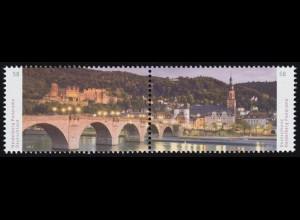 3028-3029 Panorama Heidelberg, Zusammendruck, **