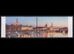 3068-3069 Panorama Dresden, Zusammendruck nassklebend, **
