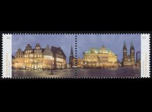3083-3084 Panorama Bremer Marktplatz, Zusammendruck, **