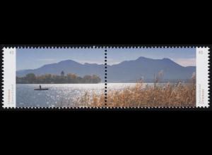 3162-3163 Panorama Chiemsee, Zusammendruck nassklebend, **