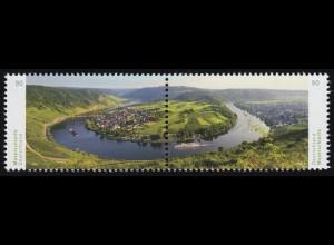 3225-3226 Panorama Moselschleife bei Kröv, Zusammendruck nassklebend, **