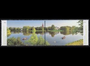 3401-3402 Panorama Gartenreich Dessau-Wörlitz, Zusammendruck nassklebend, **