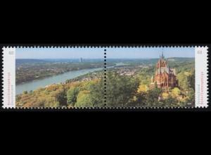 3510-3511 Panorama Bonn / Siebengebirge, Zusammendruck nassklebend, **