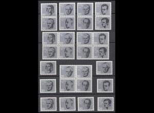 431-438 aus Block 3 Widerstand 20. Juli 1944, 19 ZD + 8 Ezm Zusammendruck-Set **