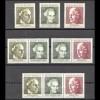 596-598 aus Block 5 Frauenwahlrecht 1969, 3 ZD + 3 Ezm, Zusammendruck-Set **