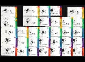2349-2353 Zusammendruck-Set aus Block 63 Jugend Vater und Sohn 2003, Set **
