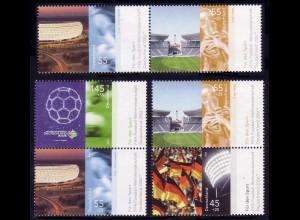 2517ff aus Block 67 Fußball-Weltmeisterschaft 2006, 3 Zusammendrucke, Set **