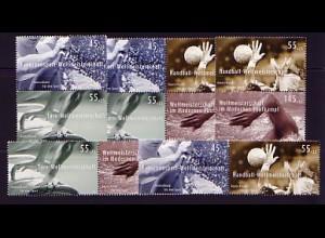 2578ff aus Block 70 Sporthilfe 2007, 5 Zusammendrucke, Zusammendruck-Set **
