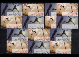 ZD-Set aus MH 80 Leichtathletik-WM 2009, vier 2er und zwei 3er, postfrisch **